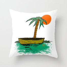 Emilie et Sonia Throw Pillow