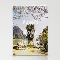 james bond Stationery Cards featuring James Bond Island (vintage) by Armine Nersisian