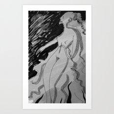 Nótt (B&W) Art Print