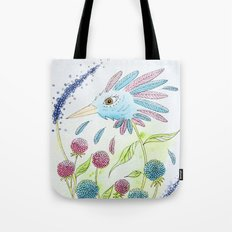 Flower-bird Tote Bag