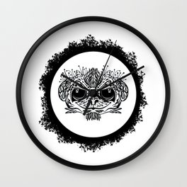 Half Evil Wild Monkey Wall Clock