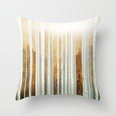 Golden Winter Forest 4 Throw Pillow