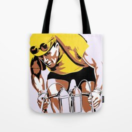 The yellow jersey (retro style cycling) Tote Bag