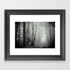Two Track Road Framed Art Print