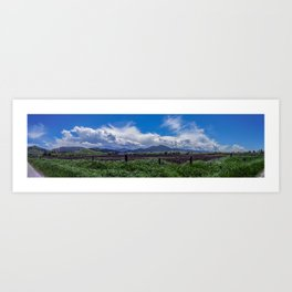 The Bridger Mountains, Outside Bozeman, Montana Art Print