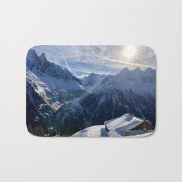 Winter Sun \\  French Alps Bath Mat