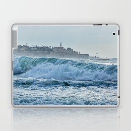 Waveforms on the shores of Tel Aviv Laptop & iPad Skin