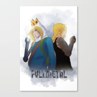 fullmetal alchemist Canvas Prints featuring Fullmetal by Witchy