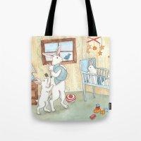 nursery Tote Bags featuring Nursery by Bluedogrose