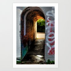 'Tunnel Out' Art Print
