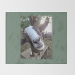 Goat Barnyard Farm Animal Throw Blanket