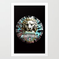 lions Art Prints featuring LIONS by infloence