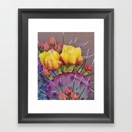PRICKLY PEAR CACTUS Framed Art Print