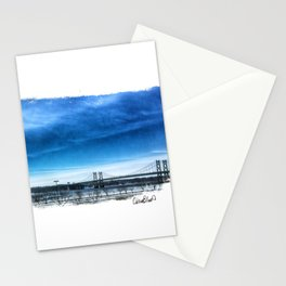 Iowa-Illinois Memorial Bridge - In the Distance Stationery Cards