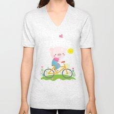 Pig on a bike Unisex V-Neck