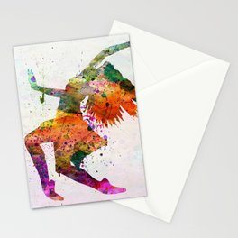 dancing to the night Stationery Cards