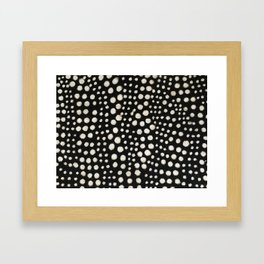 Black and white cercles african weave Framed Art Print