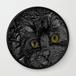 Metal cat Wall Clock