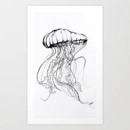 Méduse Art Print