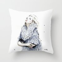 the neighbourhood Throw Pillows featuring Falling For You by anna hammer