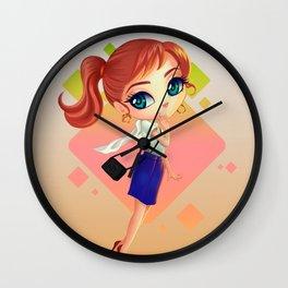 littlegirl with bag Wall Clock