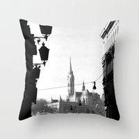 budapest Throw Pillows featuring Budapest by Lena Karafelova