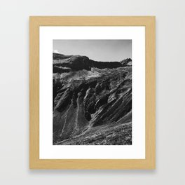 Swiss Alpine Mountains in Black and White Framed Art Print
