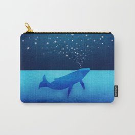 Whale Spouting Stars - Magical & Surreal Carry-All Pouch