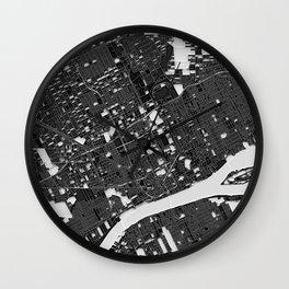 Detroit – Abstract Maps Wall Clock