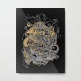 Octolady Metal Print