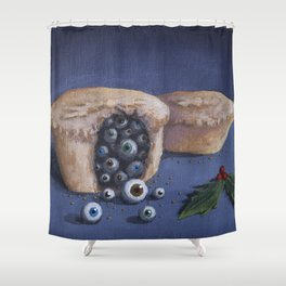 Mince P-Eyes Shower Curtain