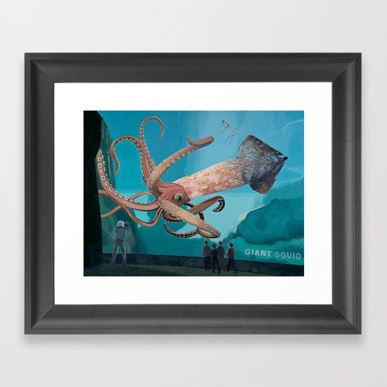 The Squid Framed Art Print