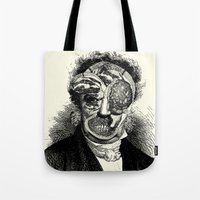 meat Tote Bags featuring MEAT by DIVIDUS