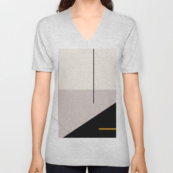abstract minimal 28 Unisex V-Neck