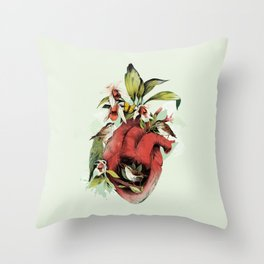 Heart Of Birds Throw Pillow