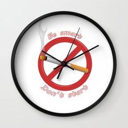 Be Smart. Don't start. Wall Clock