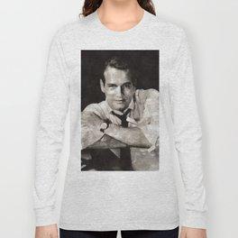 Paul Newman, Hollywood Legend Long Sleeve T-shirt