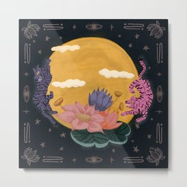 Moon Tigers Metal Print