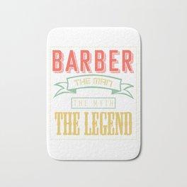 Barber Man Myth Legend Bath Mat