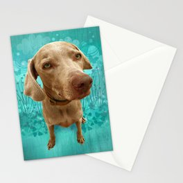 PARKER POSEY (aqua) puffy cloud series Stationery Cards