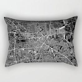 Houston Black Map Rectangular Pillow