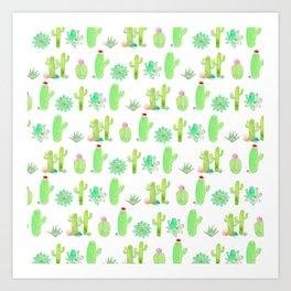 Watercolor Cactus Print Art Print