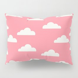 Clouds Pink Pillow Sham