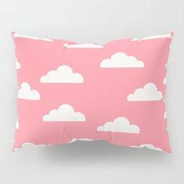 Clouds Pink Pillow Sham