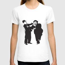 Laurel And Hardy Keystone Cops Keaton Chaplin Stan Laurel Oliver Hardy Police T-Shirts T-shirt