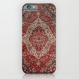 Persian Bakhtiari Old Century Authentic Colorful Deep Dark Red Tan Vintage Patterns iPhone Case