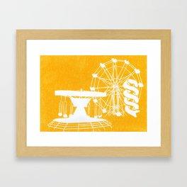 Seaside Fair in Yellow Framed Art Print