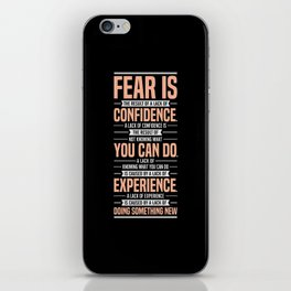 Lab No. 4 Fear Is The Result Dale Carnegie Inspirational Quotes iPhone Skin