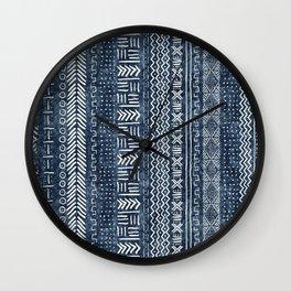 Mud Cloth Stripe Wall Clock