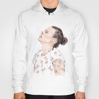 coconutwishes Hoodies featuring Harry Flamingo by Coconut Wishes